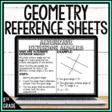 8th Grade Math Anchor Chart Reference Sheets: Geometry