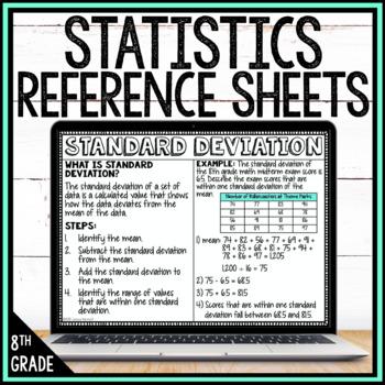 8th Grade Math Anchor Charts: Statistics Bundle
