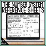 8th Grade Math Anchor Chart Reference Sheets: The Number System