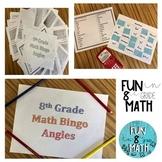 8th Grade Math Angles Review Bingo