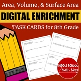 8th Grade Math Area, Volume, & Surface Area Digital Enrich