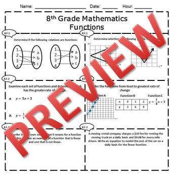 8th Grade Math Tests Bundle {Common Core Assessments} EDITABLE