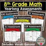 8th Grade Math Assessments EDITABLE (Entire Year)