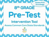 8th Grade Math Beginning of the Year CCSS Pre-Assessment &
