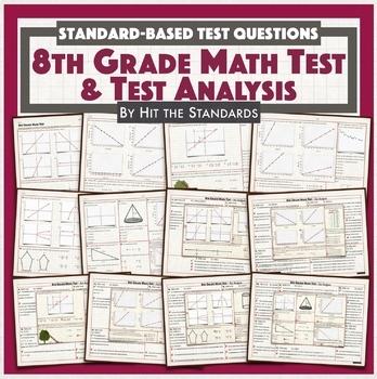 8th Grade Math Benchmark, Test Prep Review packet, Spring Break Homework