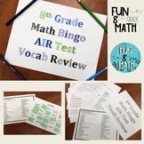 8th Grade Math AIR Test Vocabulary Review Bingo
