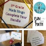 8th Grade Math Bingo Complete Year Bundle