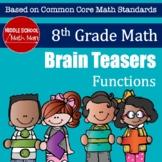 8th Grade Math Brain Teasers - Functions