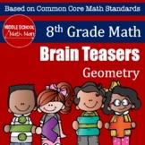 8th Grade Math Brain Teasers - Geometry