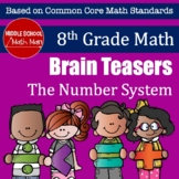 8th Grade Math Brain Teasers - The Number System