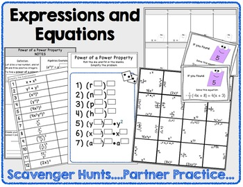 8th Grade Math Bundle - Notes, Worksheets, Activities, and Assessments