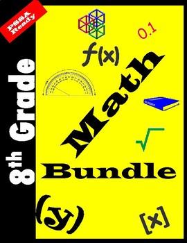 8th Grade Math Bundle-PSSA Testing Ready
