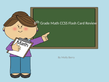 8th Grade Math CCSS Flash Card Review Power Point