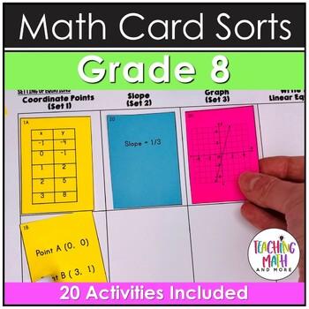 8th Grade Math Card Sort Activities & Assessments BUNDLE