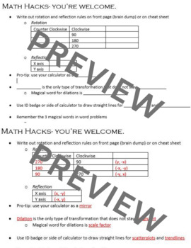 Basic Math Cheat Sheets Worksheets & Teaching Resources | TpT