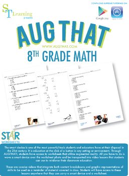 8th Grade Math Common Core - Augmented Reality - 19 Animated Lessons Bundle