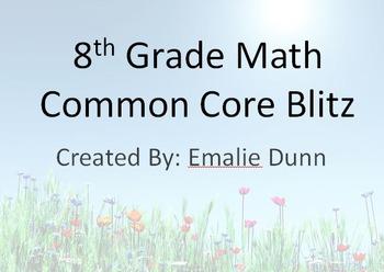8th Grade Math Common Core Blitz