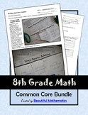 8th Grade Math Common Core Bundle: Lessons & Activities fo