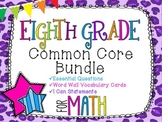 8th Grade Math Common Core Bundle! Everything You Need! *Cheetah Print*