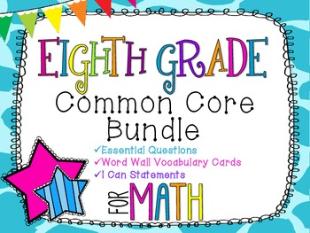 8th Grade Math Common Core Bundle! Everything You Need! *Giraffe Print*
