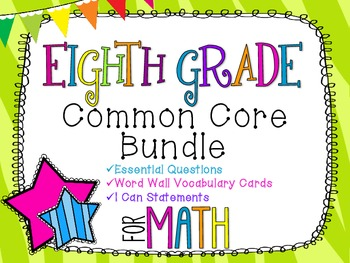8th Grade Math Common Core Bundle! Everything You Need! *Zebra Print*
