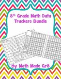 8th Grade Math SBG or Mastery Grading Data Tracker (Bundle)