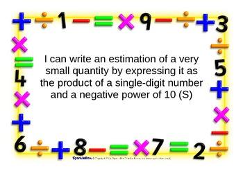 """8th Grade Math Common Core """"I Can"""" Statement Printouts"""