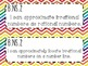 8th Grade Math Common Core *I Can Statements* Rainbow Chevron