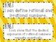 8th Grade Math Common Core *I Can Statements* Zebra Print