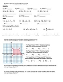 8th Grade Math Common Core Review Packet
