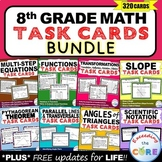 8th Grade Math Common Core WORD PROBLEM TASK CARDS { BUNDLE - 320+ Cards}