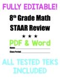 8th Grade Math Comprehensive STAAR Review