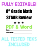 8th Grade Math Comprehensive STAAR Review