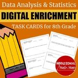 8th Grade Math Data Analysis & Statistics Digital Enrichme