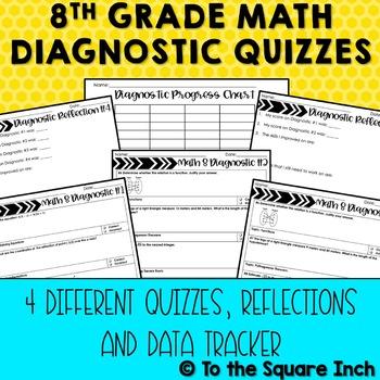 8th Grade Math Diagnostic Quizzes