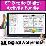 8th Grade Math Digital Activity Bundle!