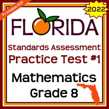 8th Grade Math EOC and FSA Practice Test #1