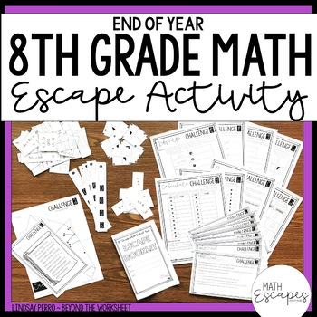 8th Grade Math End of Year Escape Activity