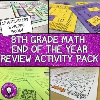 8th Grade Math Review Bundle