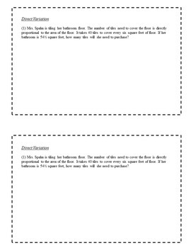 8th Grade Math Enrichment Task Cards - Linear Functions and Systems of Equations