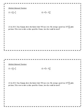 8th Grade Math Enrichment Task Cards - Rational Numbers and Percent