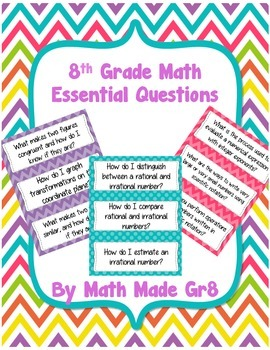8th Grade Math Essential Questions
