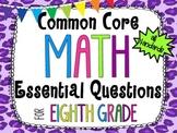 8th Grade Math Essential Questions Cheetah Print *Common C