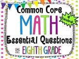 8th Grade Math Essential Questions Neon Stars *Common Core