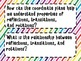 8th Grade Math Essential Questions Rainbow Stripes *Common Core Aligned*