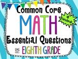 8th Grade Math Essential Questions Zebra Print *Common Cor