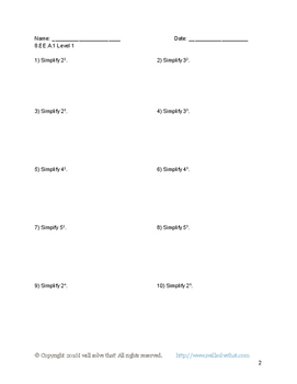 8th Grade Math: Expressions and Equations Unit Materials