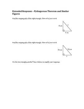 8th Grade Math Extended Response Questions