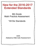 8th Grade Math Extended Standards Practice Test Alabama Alternate Assessment