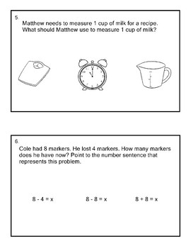 8th Grade Math Extended Standards Practice Test PACK  2 AAA